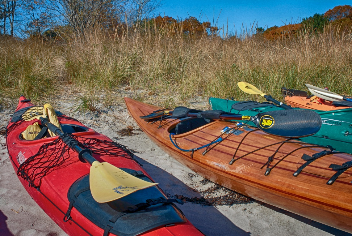 While exploring an isolated beach in New Castle, NH, I came upon these colorful kayaks lined up in a row. The day was beautiful and the ocean calm. I could just imagine being out there.