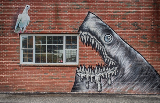 I thought I knew where all the wall art was in downtown Portsmouth, NH, until I walked down by the docks and discovered this treasure.